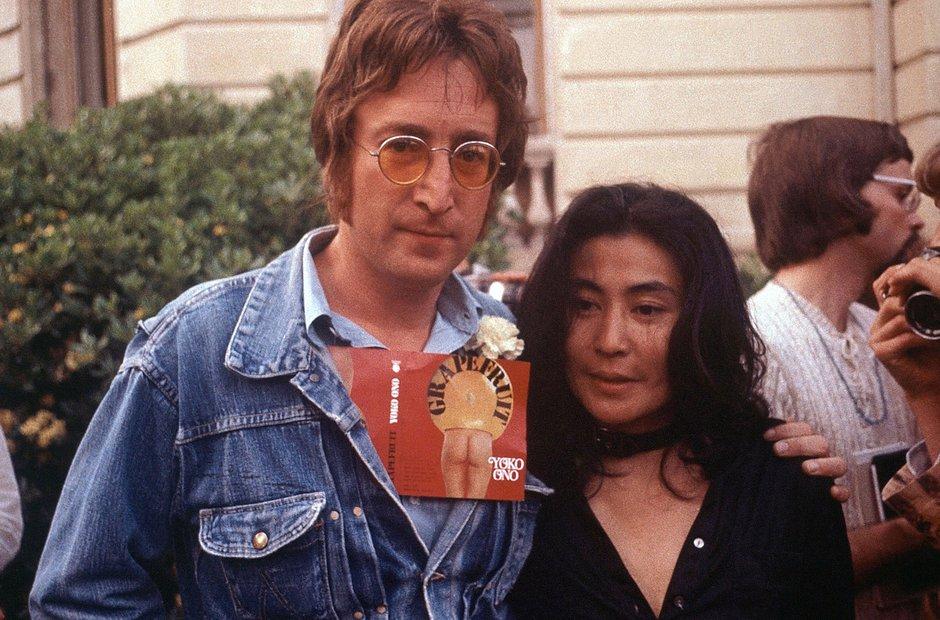 John Lennon and Yoko Ono 1971