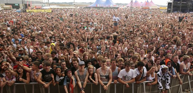 Reading festival crowd