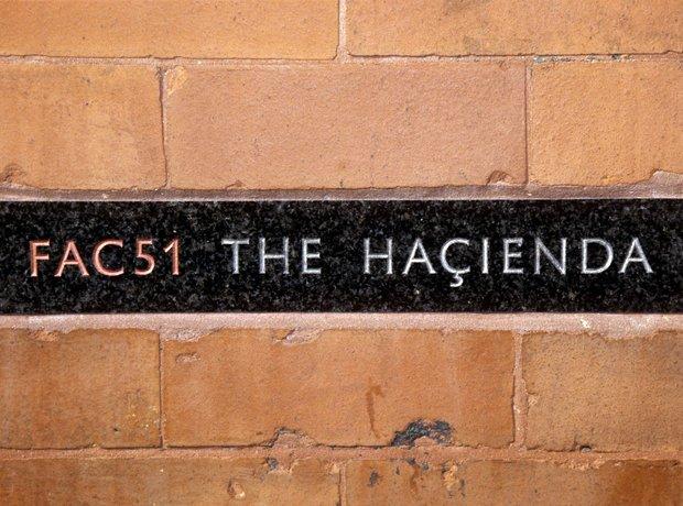 The Hacienda sign