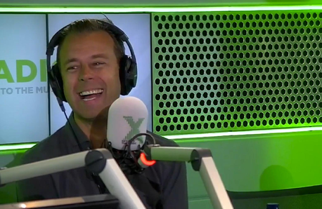 Pat Sharp on the Chris Moyles Show 2 October 2015