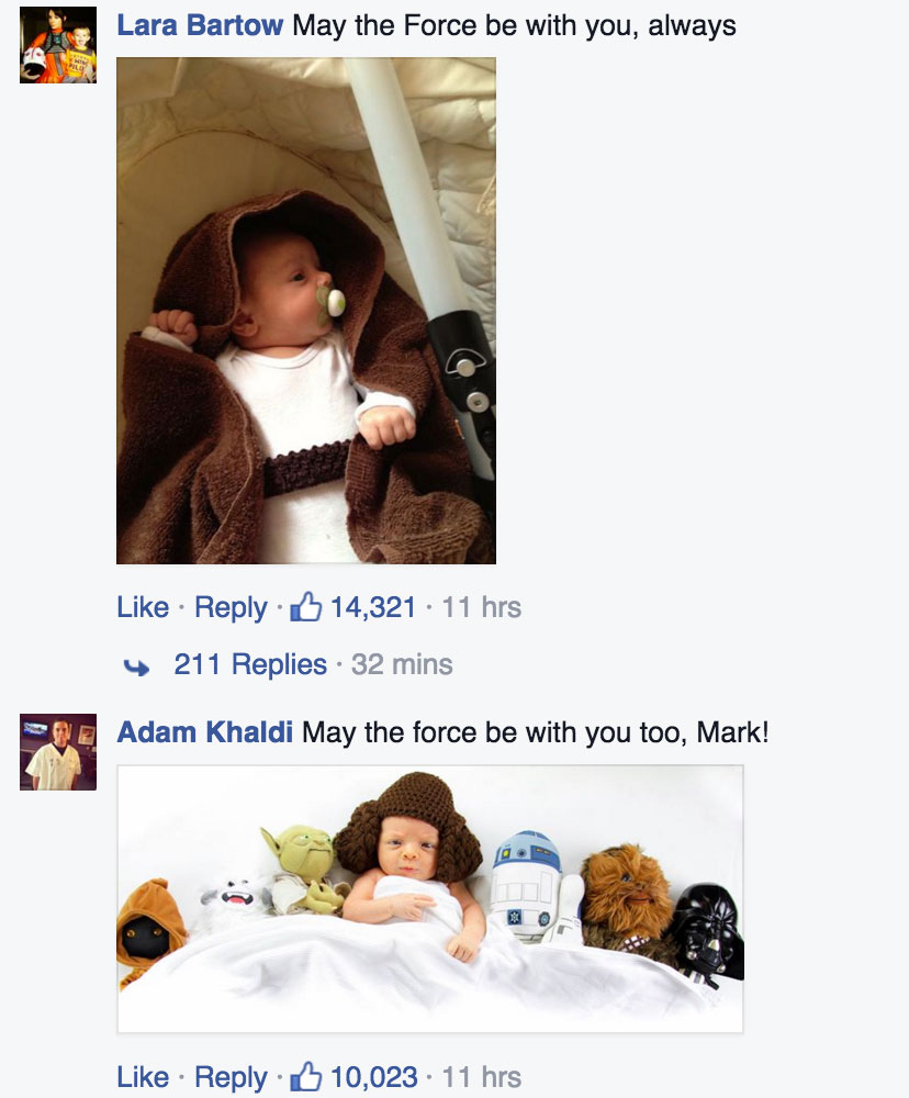 Star Wars baby photos Facebook