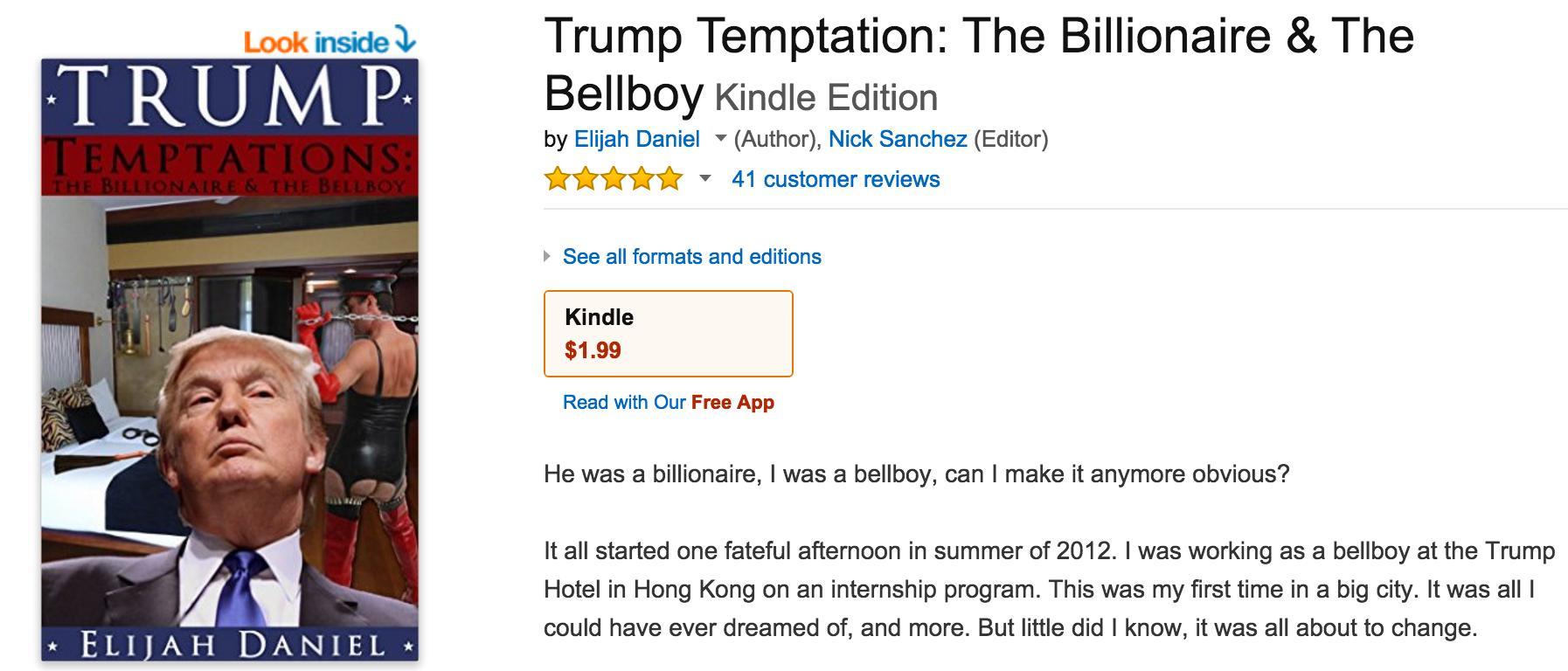 Donald Trump Erotic Novel Amazon