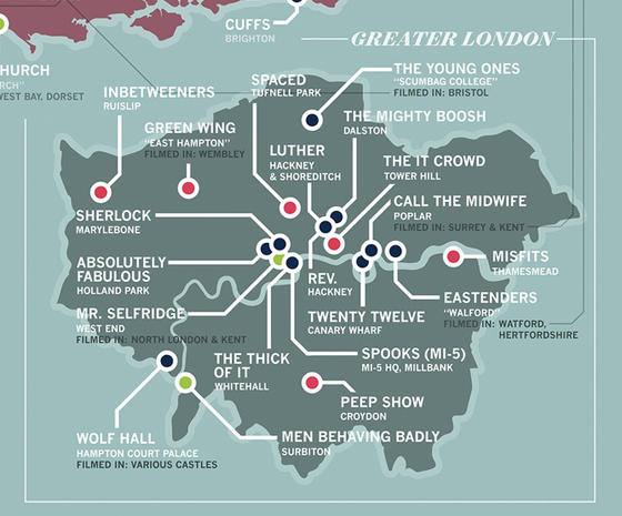 Take a look at this amazing map of British TV show locations  Radio X