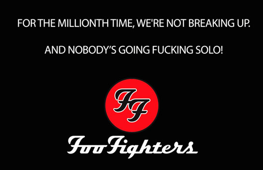 Foo Fighters spoof video caption