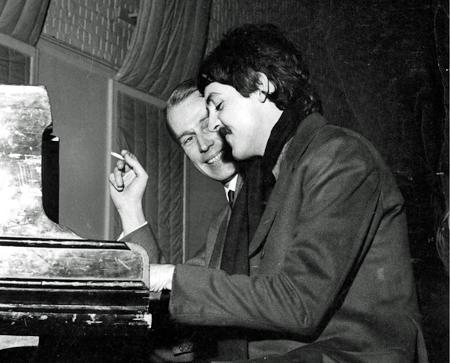 George Martin and Paul McCartney Beatles 1967