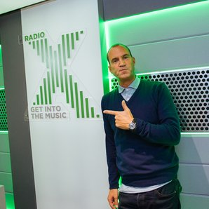 Johnny Vaughan Radio X studio
