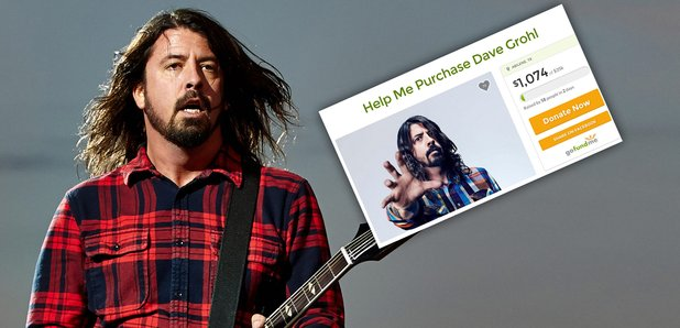 Dave Grohl with fans Go Fund Me Page Still