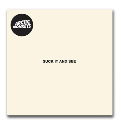 Arctic Monkeys Suck it and See artwork with transp