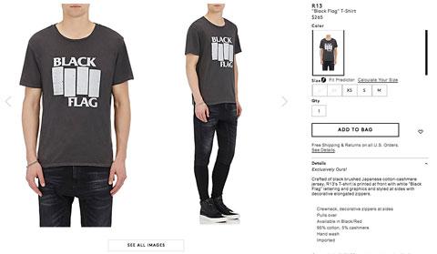 Black Flag Barneys t-shirt screengrab