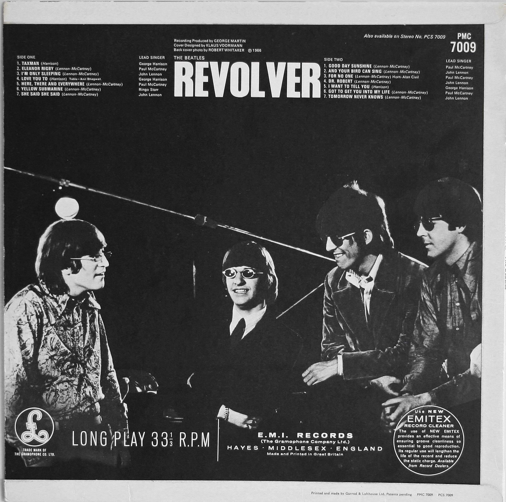 The Beatles - Revolver back cover