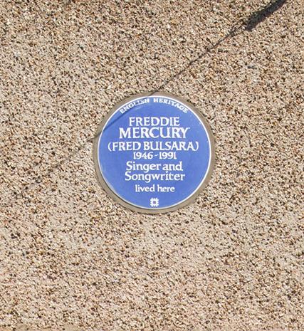 Freddie Mercury English Heritage Blue Plaque
