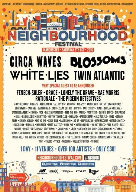 Neighbourhood Festival line-up August 2016