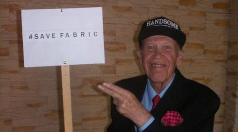 Elderly Polish visitor lends hand to Save Fabric c