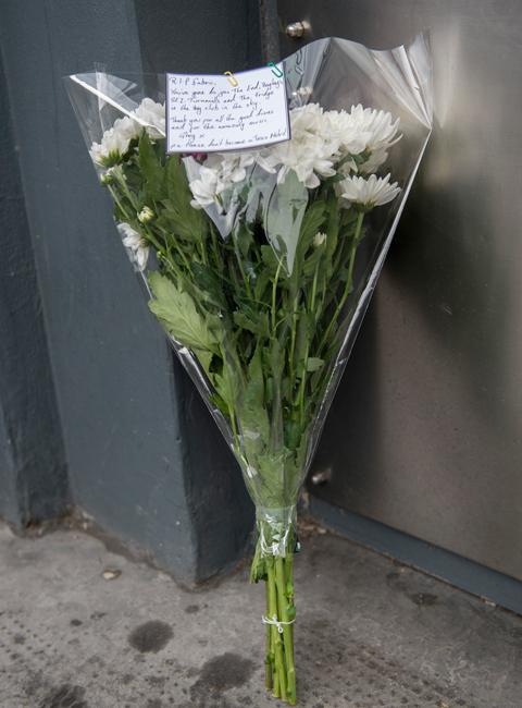 Flowers outside Fabric London Nightclub