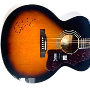 John Squire signed acoustic guitar- square