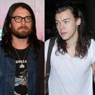 Nathan Followill and Harry Styles split image