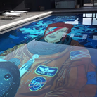 David Bowie Mural in swimming pool YouTube still