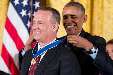 Tom Hanks awarded with Presidential Medal of Freed