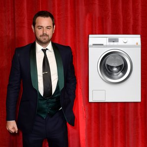 Danny Dyer with washing machines stock image
