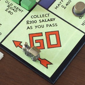 Monopoly board stock image