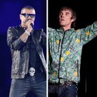 George Michael Ian Brown split image