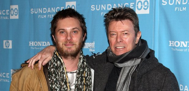 David Bowie and son Duncan Jones at the Sundance p