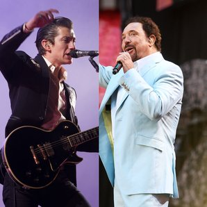 Arctic Monkeys Alex Turner and Tom Jones