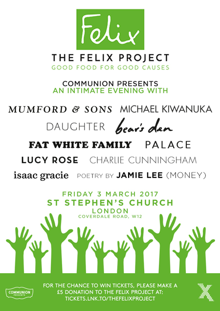 The Felix project charity gig flyer 450