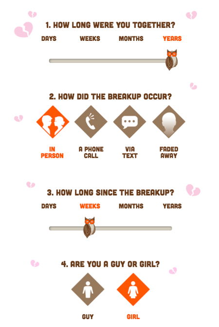 Hooters Shred your ex quiz