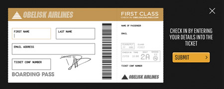 Foo Fighters Boarding Pass check in website