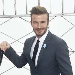 David Beckham On The Empire State Building
