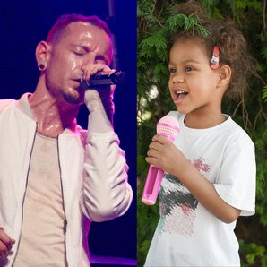 Linkin Park's Chester Bennington and stock toddler
