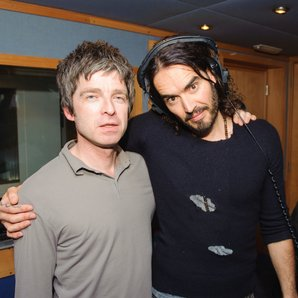 Noel Gallagher and Russell Brand in 2013