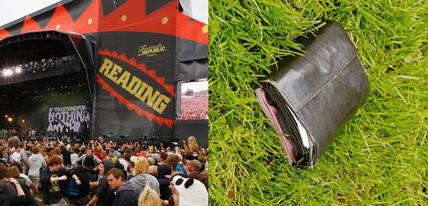 Reading Festival stage and wallet stock image