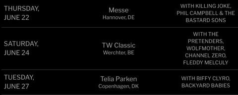 Guns N'Roses tour dates in June 2017 website still