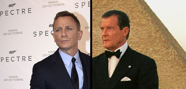 Daniel Craig and Sir Roger Moore