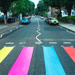 Abbey Road Crossing Sgt Pepper Colours