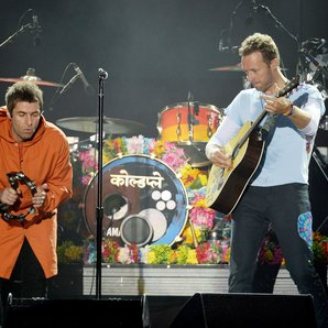 Liam Gallagher and Chris Martin Coldplay One Love