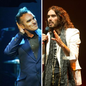 Morrissey and Russell Brand