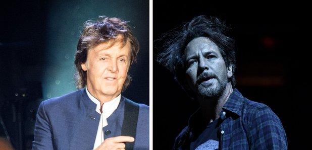 Paul McCartney Eddie Vedder