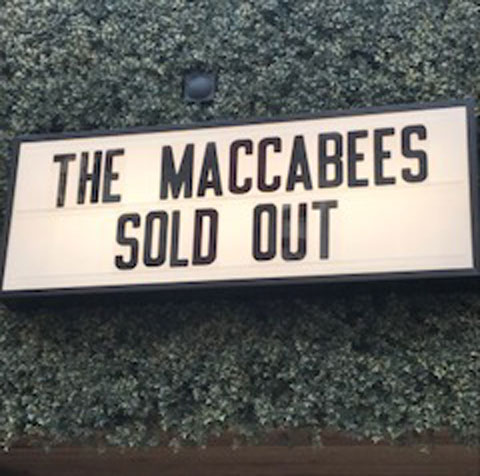 The Maccabees gig sold out sign