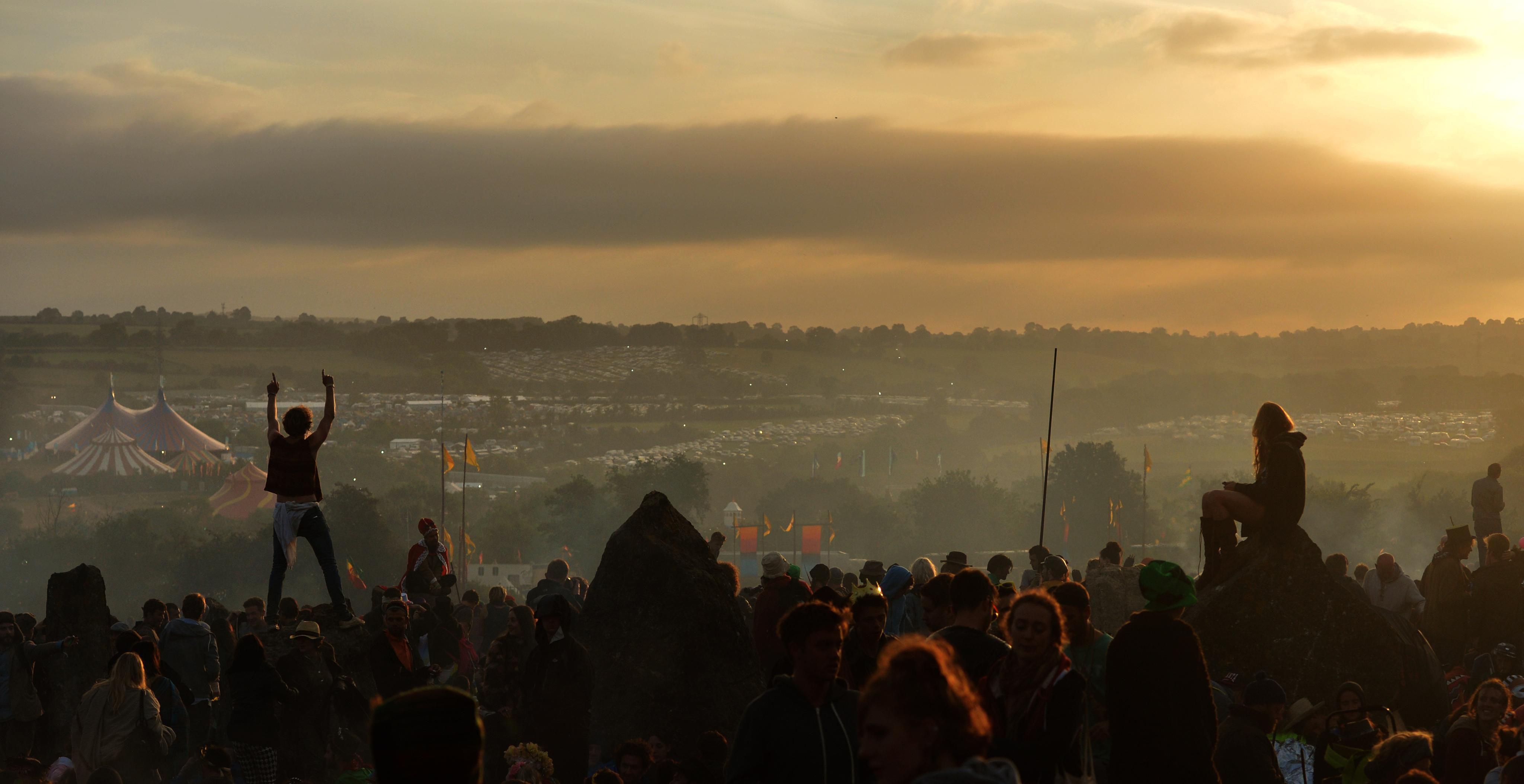 Glastonbury sunrise 2013