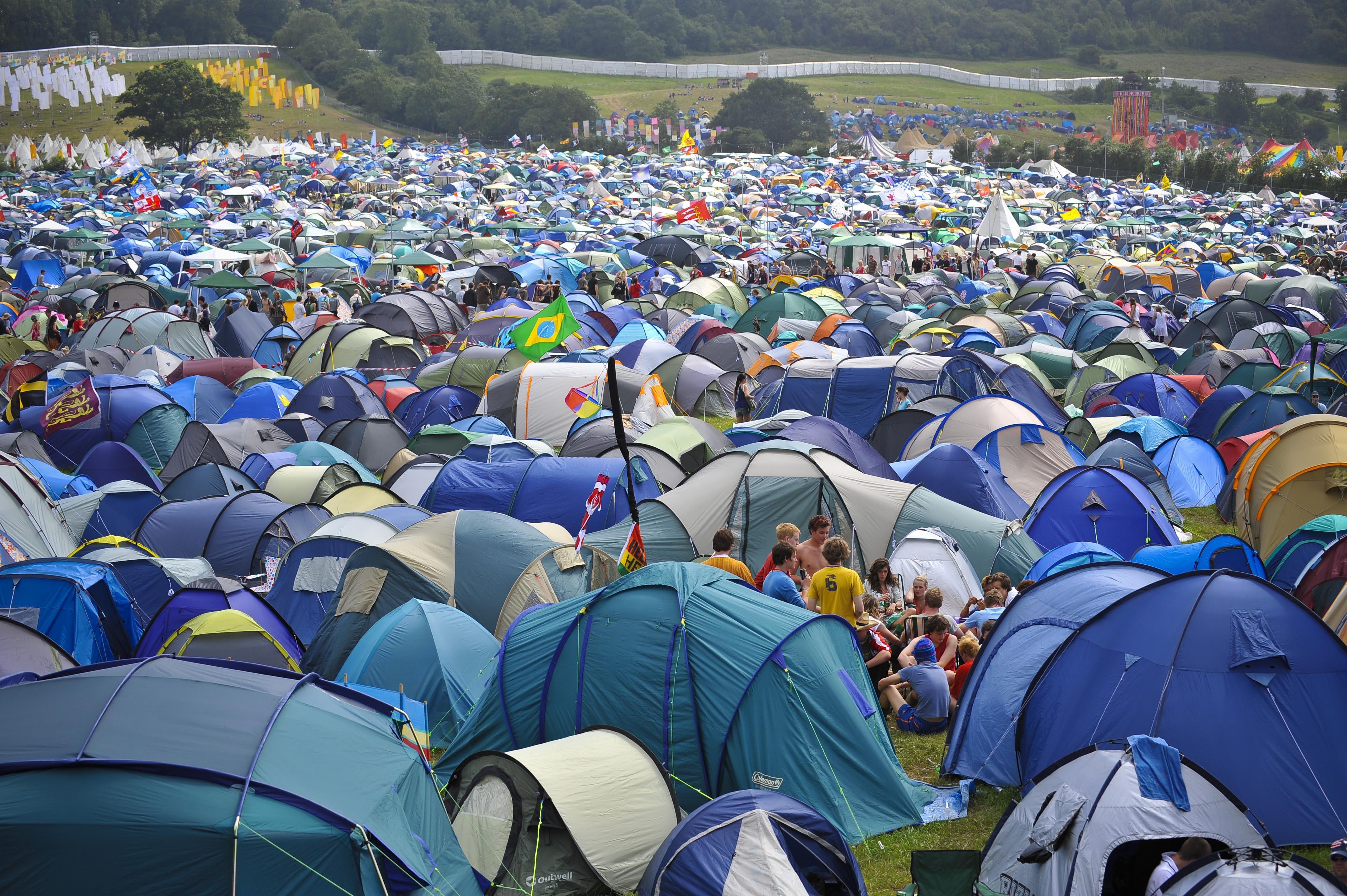 Glastonbury tents