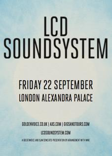 LCD Soundsystem UK tour incl. Alexandra Palace dat