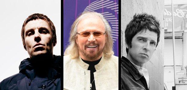 Liam Gallaher, Barry Gibb, Noel Gallagher