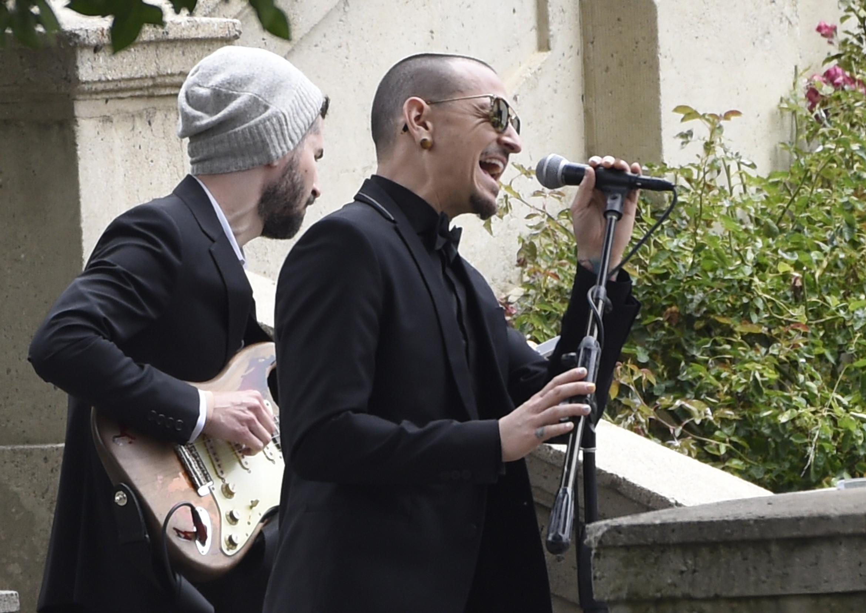 Chester Bennington Chris Cornell funeral