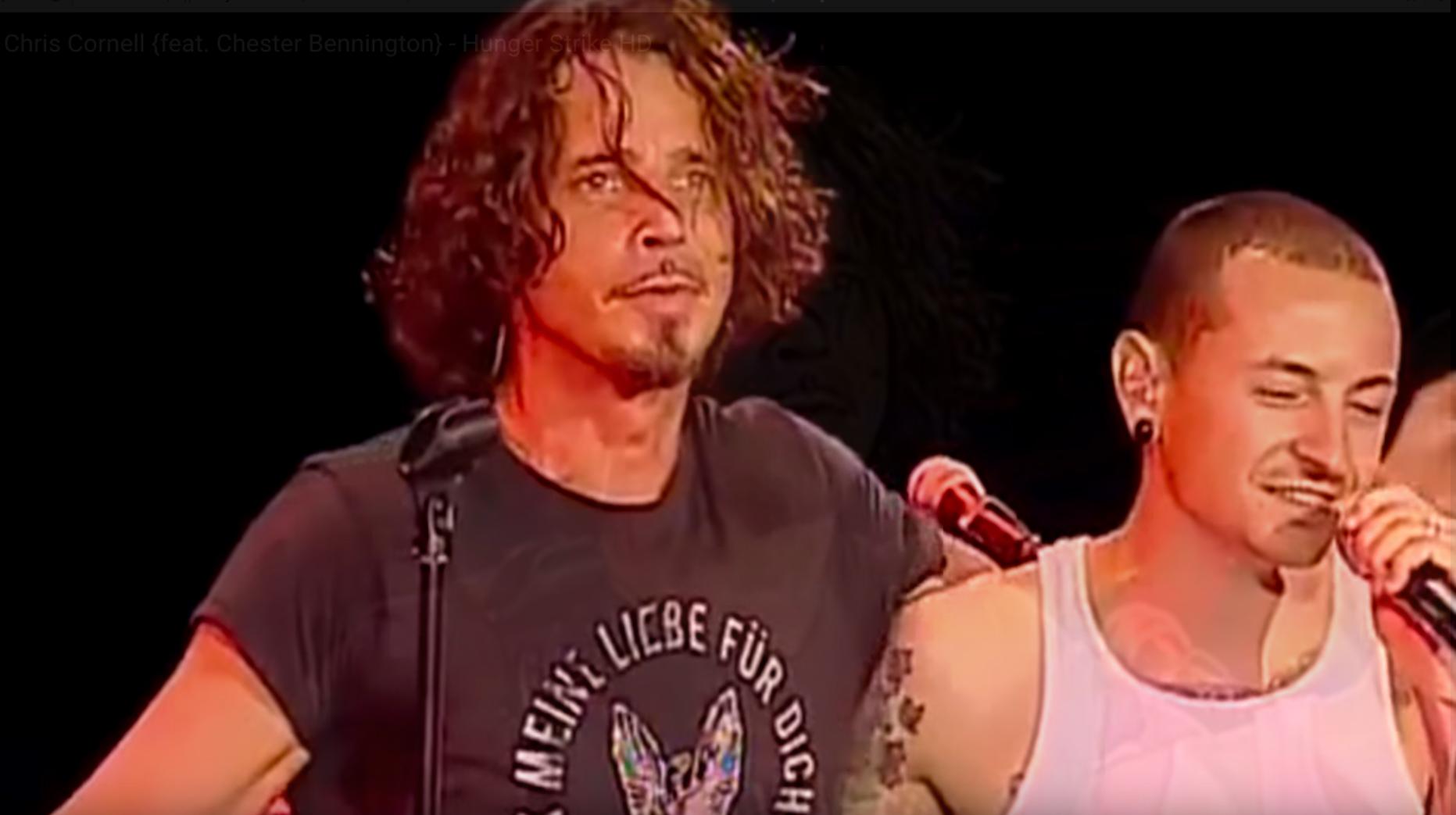 Chris Cornell and Chester Bennington live