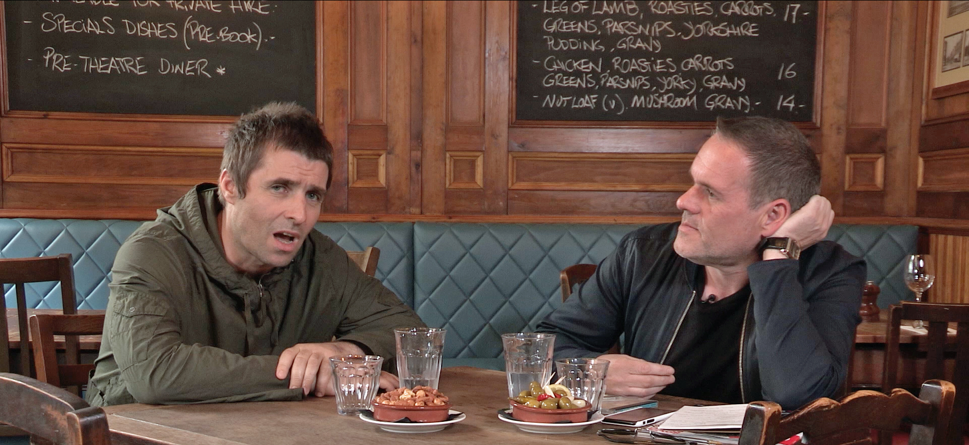 Chris Moyles and Liam Gallagher
