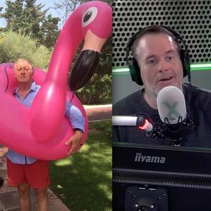 Chris Tarrant shares flamingo photo Toby Chris Moy