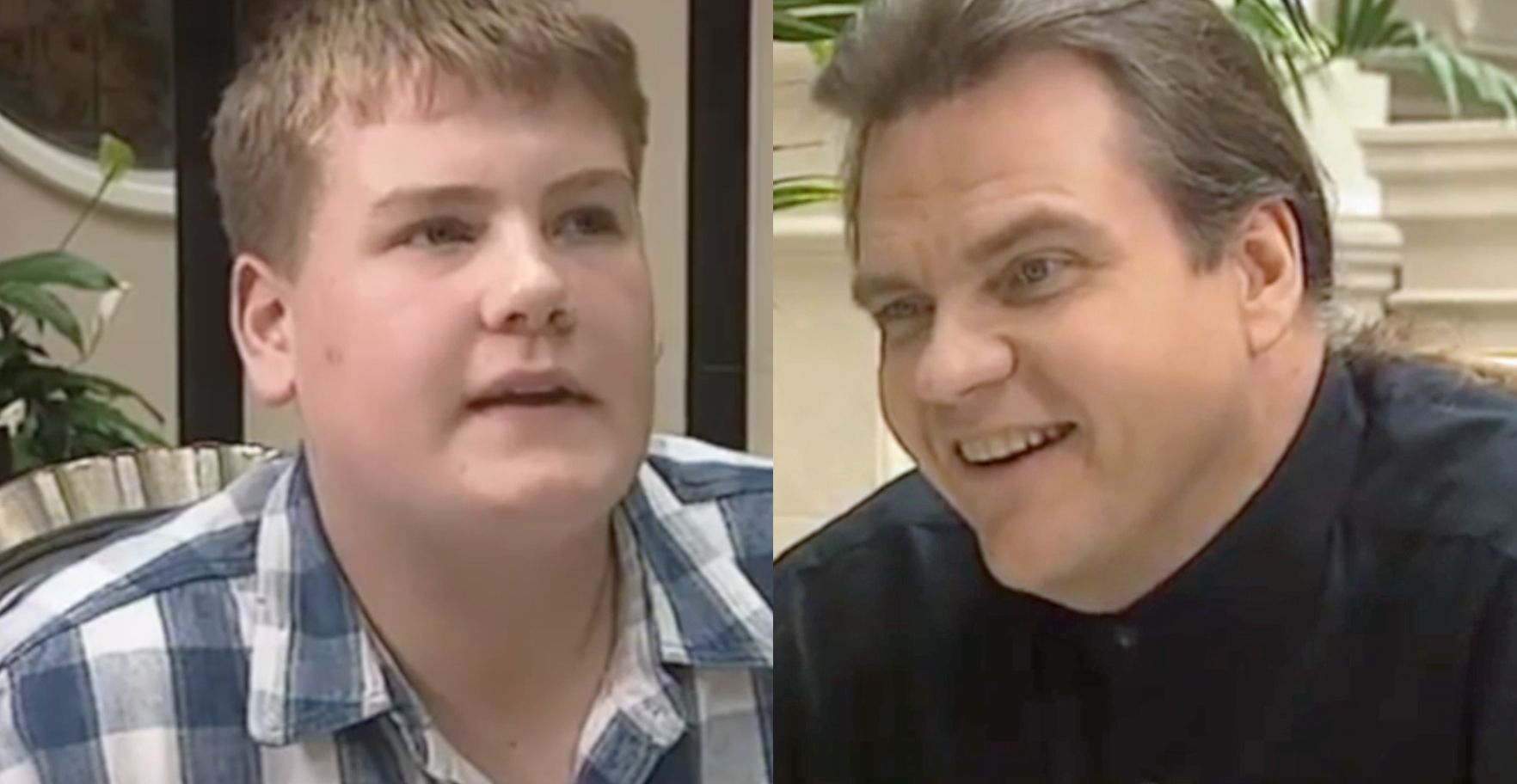 James Corden and Meat Loaf 1995
